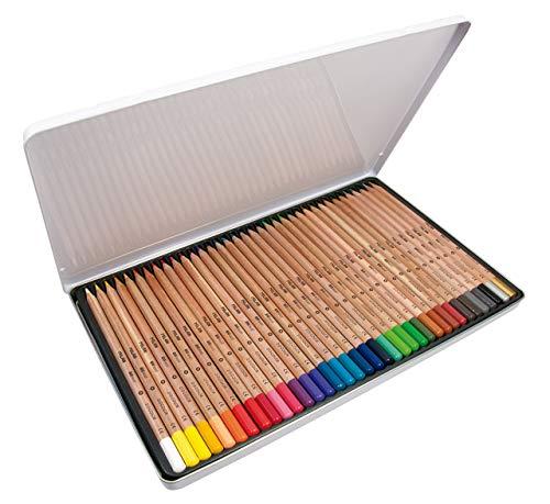 Caja metálica 36 lápices colores mina grande Ø3,3