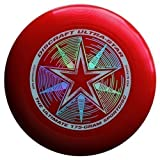 "Discraft Ultra-Star 175g Ultimate Frisbee ""Starburst"" - rojo"