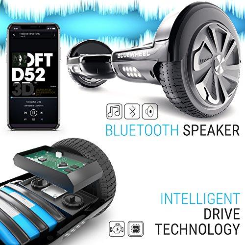 Testsieger 6.5″ Hoverboard Bluewheel HX320 mit UL2272 Sicherheitsstandard – Kinder Sicherheitsmodus mit App – Bluetooth Lautsprecher – 700W Motor – LED – Elektro Scooter Self-Balance E-Skateboard - 4