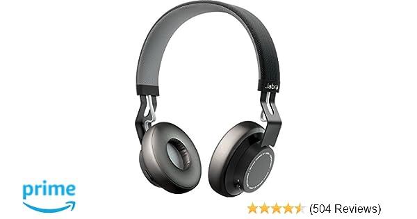 Jabra Move Wireless Bluetooth On-Ear Headphones - Black  Amazon.co ... ef61b484e1c85