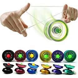 Junsi Hot Aluminum Professional YoYo Ball Bearing String Trick Alloy Kids Toy Gift