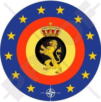 Belgio belga Ministero della difesa distintivo 10,2cm (100mm) adesivo in vinile, decalcomania