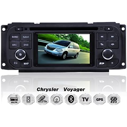 REALMEDIA Chrysler Grand Voyager Concorde PT Cruiser Neon 300M OEM Einbau Touchscreen Autoradio DVD Player MP3 MPE4 USB SD 3D Navigation GPS TV iPod USB MPEG2 Bluetooth Freisprecheinrichtung +++mit REALMEDIASHOP Garantie+++