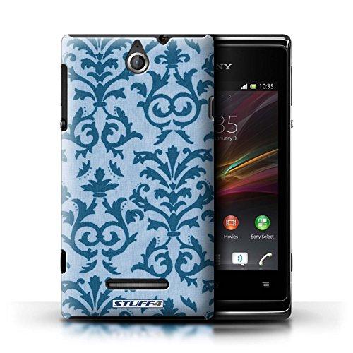 Kobalt® Imprimé Etui / Coque pour Sony Xperia E / Orange conception / Série Motif de défilement Bleu