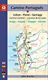 Camino Guide Portugues Maps: Lisbon - Porto - Santiago / Camino Central - Camino De La Costa