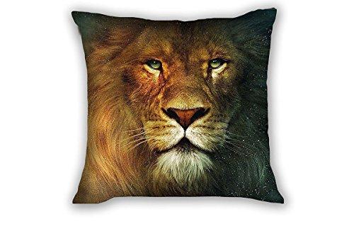 """Damuyas Löwe/Tiger Face Baumwollleinen, quadratisch Kissenbezug Sofa Home Bett Decor 43* 43cm, Polyester-Mischgewebe, Lion face, Size: 45 * 45cm/(18 * 18\"""")"""