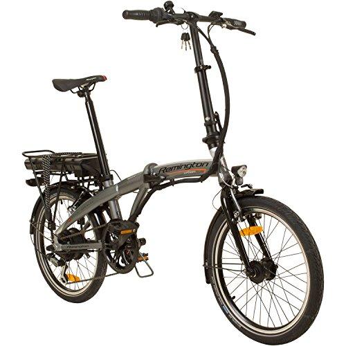 REMINGTON Urban Folder 20 Zoll Faltrad E-Bike Klapprad Pedelec StVZO Elektrofaltrad, Farbe:Silber