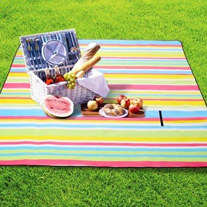 DAS Leben Outdoor Blanket 79'' X 79'' - Water-Resistant Sandproof