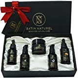 Luxuriöses Anti-Aging BIO Geschenkset 5x30ml - Hyaluron Serum + Hyaluron Creme + Aloe Vera Gel + Vitamin ACE Serum + Arganöl - Ideales Geschenk für Frauen zum Geburtstag -Naturkosmetik Made in Germany