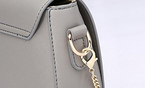 Pacchetto personalizzato di moda estiva, versione coreana dello zainetto spostato spalla, borse semplici semplici ( Colore : Blu zaffiro ) Grigio