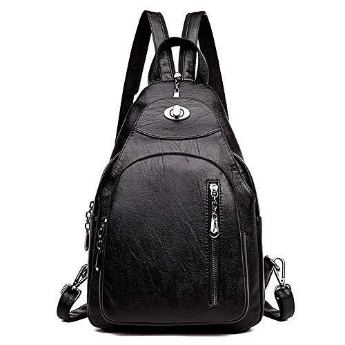ZLULU Damen-Schultertaschen Damenhandtaschen Rucksack Weiblicher Brustbeutel Beiläufiger Wilder Diebstahlsicherer Reisemultifunktionsrucksack, A -