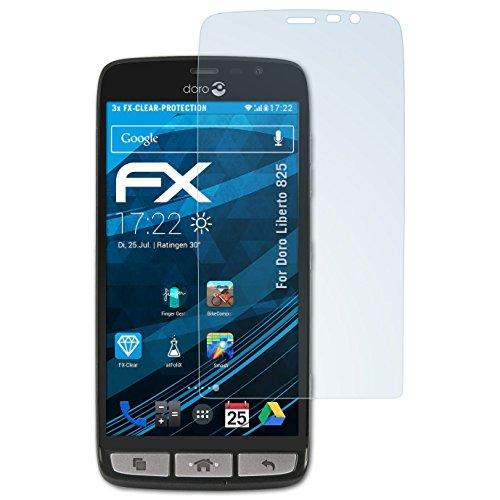 atFolix Schutzfolie kompatibel mit Doro Liberto 825 Folie, ultraklare FX Bildschirmschutzfolie (3X)