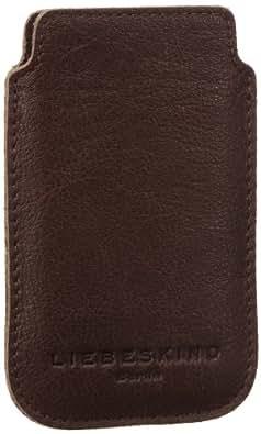 Liebeskind Berlin Mobile2 2D leather, Damen Handyhülle für iPhone 3 & 4, Grau (taupe), 8x13x1 cm (B x H x T)