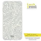 Funnytech® Funda Silicona para Xiaomi Mi 8 Pro [Gel Silicona Flexible, Diseño Exclusivo] Textura Flores Color Pastel Ver. 7