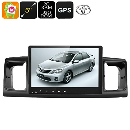 2 DIN Car Stereo For Toyota Corolla 9 Inch Display Android 6.0 GPS WiFi CAN BUS
