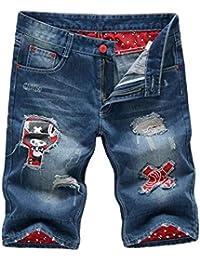 De Los Hombres del Algodón del Verano Al Aire Libre Clásico Pantalones Vaqueros De Bolsillo De