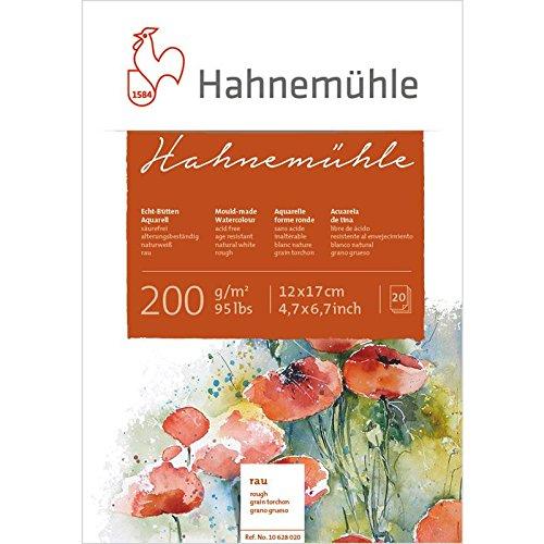 Aquarellblock Hahnemühle rau 200g/m², 12x17cm, 20Blatt