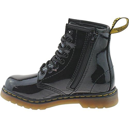 Dr. Martens DELANEY Softy T Unisex-Kinder Bootsschuhe Schwarz (glänzend)