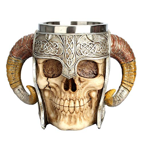 PETSOLA 3D Gothic Skull Totenkopf Becher Tasse Kaffeebecher Kaffeetasse für Party Pub, Kapazität: 550ml
