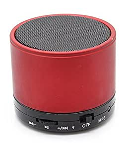 ROYAL Most awaited Speaker with feature of Feet Taping Music sound ||Super Sound ||Deep Bass ||Innovative Design ||Rechargeable Battery Bluetooth Speaker LED Wireless Bluetooth Speaker handsfree Calling Feature FM Radio & SD Card Slot , S10 Red Compatible with ZTE V81