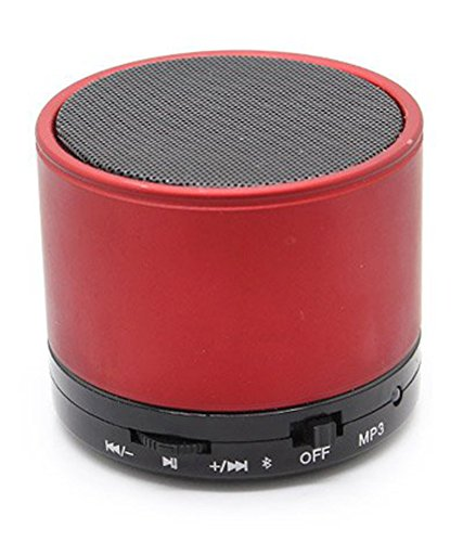 ROYAL Attractive Speaker with feature of Feet Taping Music sound ||Rechargeable Battery Bluetooth Speaker LED Wireless Bluetooth Speaker handsfree Calling Feature FM Radio & SD Card Slot , S10 Red Compatible with Iball Andi 3.5r  available at amazon for Rs.299