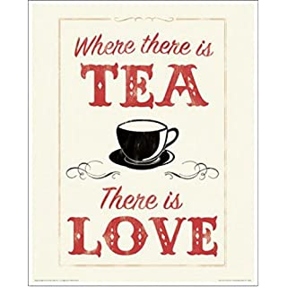 1art1 71521 Anthony Peters - Where There Is Tea There Is Love Poster Kunstdruck 50 x 40 cm