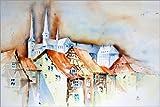 Poster 150 x 100 cm: Bamberg von Brigitte Dürr -