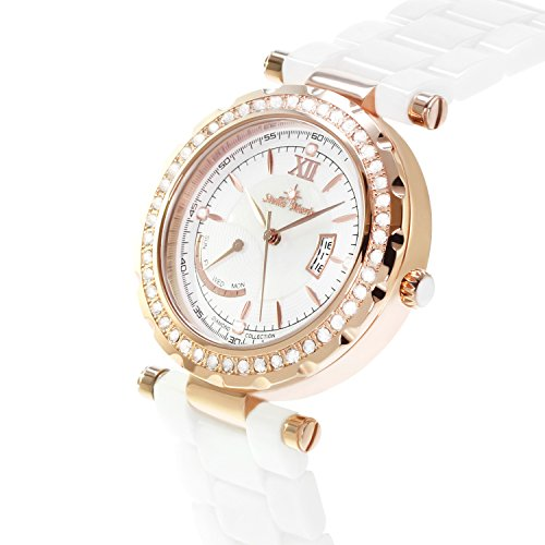 Stella Maris STM15SM15 - Orologio da polso analogico al Quarzo Donna - Cinturino Ceramica Premium Quadrante madreperla Diamanti e elementi Swarovski
