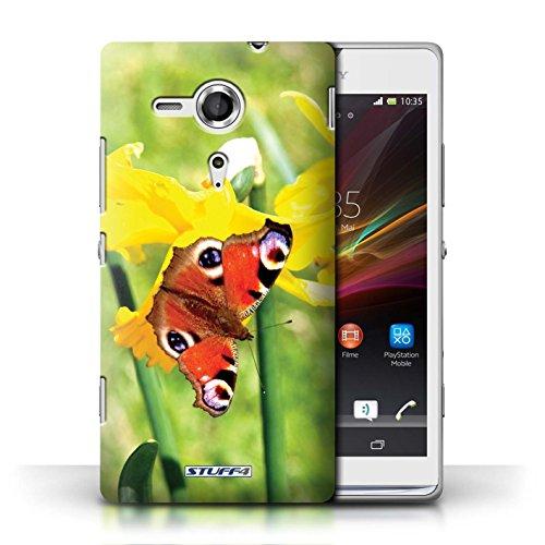 iCHOOSE Hülle / Hülle für iPhone 6+/Plus 5.5 / harter Plastikfall für Telefon / Collection Blumengarten Blumen / Sonnenblumen Schmetterling