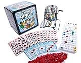 Regal Games Jumbo-Party-Bingo-Set mit Jumbo 22,9 x 20,3 cm leicht lesbaren Bingo-Karten und großem 30,5 cm Drehkäfig