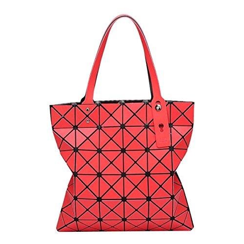 Frauen Geometrische Mode Matte Umhängetasche Red