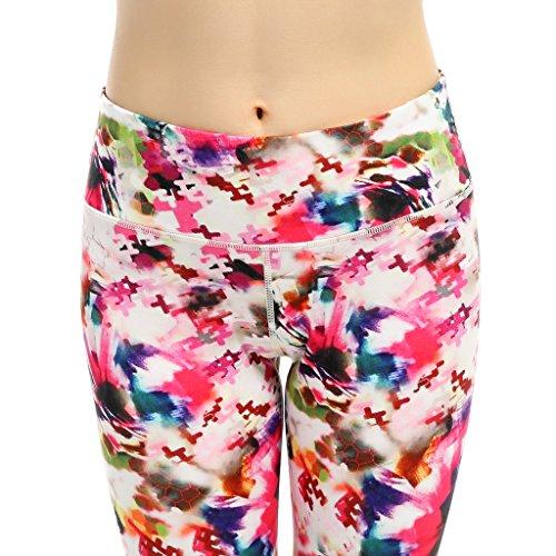 Femmes Pantalons Capri, Netspower Femmes Pantalons Capri Slim Pantalons Capris Cropped Pantalons Running Yoga Leggings Pantalons Belle couleur