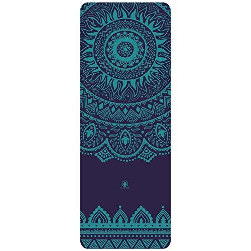 HOMFA Yoga Matte rutschfest aus Naturkautschuk 2-in-1 von Matte und Handtuch ideal für Hot Yoga, Bikram, und Ashtanga, 1850 x 680 x 4mm (Die Sonne)