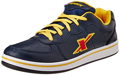 Sparx Men's Navy Blue and Yellow Sneakers - 8 UK (SD0212G)