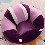 MAD DECOR HOUSE Cotton Toddlers Training Seat Baby Saftey Sofa Dinning Chair Learn To Sit Stool Purple White
