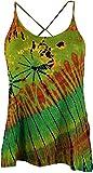 Guru-Shop Batik Hippie Top, Damen, Grün, Synthetisch, Size:38, Tops, T-Shirts, Shirts Alternative Bekleidung
