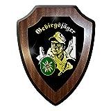 Wappenschild / Wandschild / Wappen - Gebirgsjäger GebJg Edelweiss WK 2 WW II Bundeswehr Bund Bw Abzeichen Emblem #10042