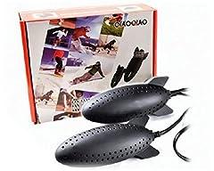 Idea Regalo - Scalda e asciuga scarpe elettrico essicatore toglie umidità deumidificatore anti odore