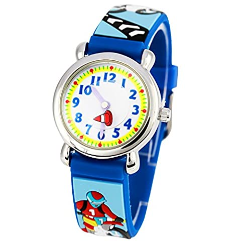Eleoption Waterproof 3D Cute Cartoon Round Dial Digital Wrist Watches
