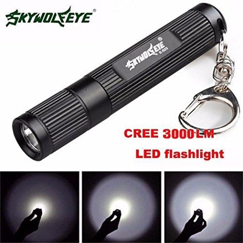 Amlaiworld Mini linterna LED 3000LM Zoomable del Q5 3 modo de antorcha