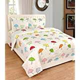 Astra Cotton Double Bedsheets With Pillow Cover Combo,Double Bedsheet,Polycotton,White