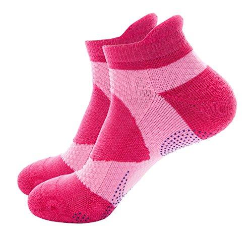 Wantdo Damen Outdoor Running Fuß schützen Kompression Socken Dunkel Farbe