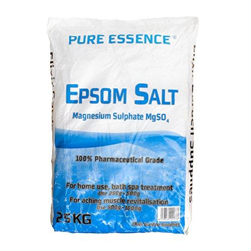 Elixir Gardens ® EPSOM BATH SALT 20KG/100% MEDICAL/FCC FOOD GRADE MAGNESIUM SULPHATE HEPTAHYDRATE R...