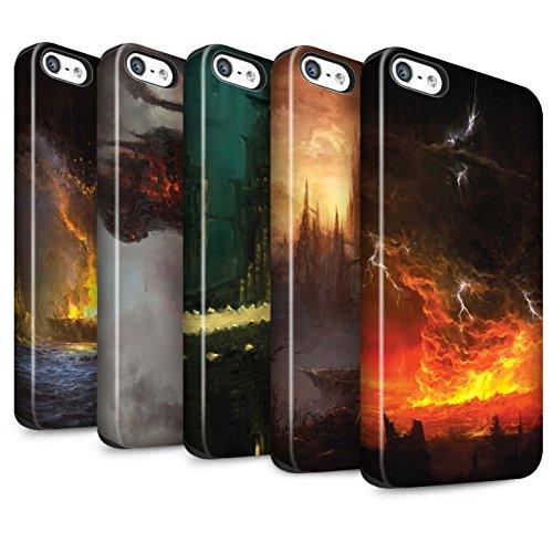 Offiziell Chris Cold Hülle / Matte Harten Stoßfest Case für Apple iPhone 5/5S / Tränen der Eva Muster / Gefallene Erde Kollektion Pack 8pcs