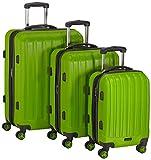Packenger Premium Koffer 3er-Set Velvet, M/L/XL, Grün