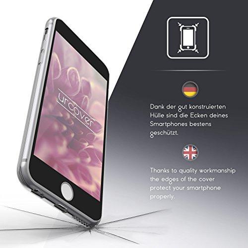 Urcover® Apple iPhone 6 Plus / 6s Plus Hülle | 360 Grad Case Schutz-hülle in Transparent | ohne Punktmatrix | Handy-Cover Rundum ultra slim Case dünn Schale | Smartphone Zuberhör Tasche Schwarz