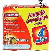 3x 4x PLASMON Vitello homogenisiert Babynahrung 12x80g ab 4 Monaten 960gr