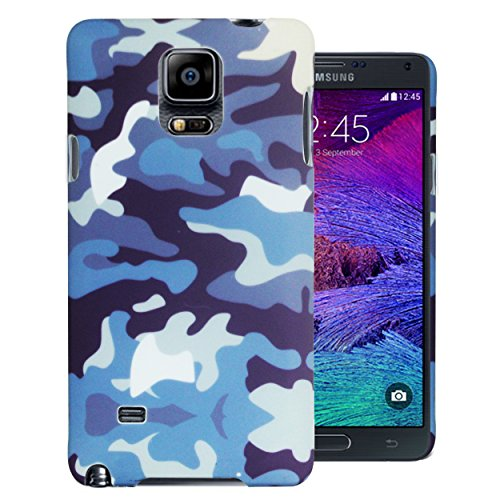 Heartly Army Style Armor Hard Printed Bumper Back Case Cover For Samsung Galaxy Note 4 – Navy Blue