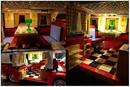 Kit di illuminazione led per lego volkswagen t camper van