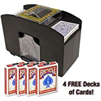 Brybelly 4 Deck Card Shuffler with 4 Free Decks of Bicycle Playing Cards by Brybelly Holdings, Inc